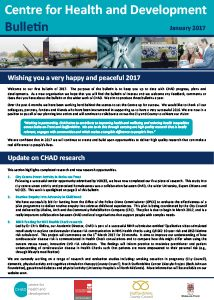 CHAD Bulletin January 2017