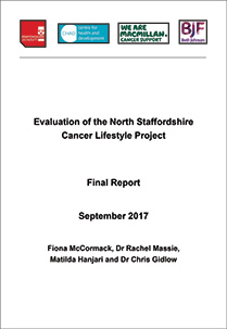Evaluation of the North Staffordshire Cancer Lifestyle Project