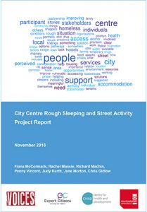 City Centre Rough Sleeping and Street Activity – Project Report
