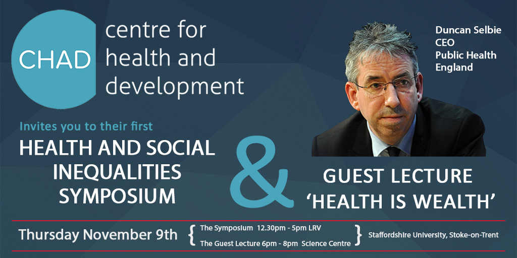 Health and Social Inequalities Symposium and Guest Lecture
