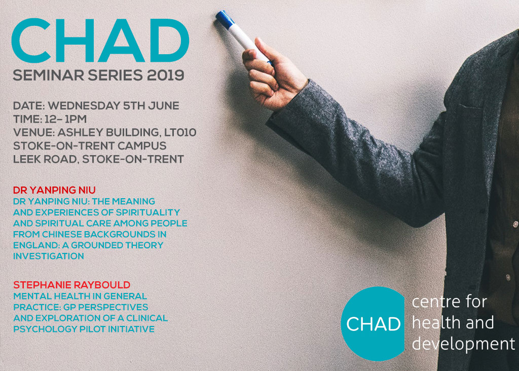CHAD Seminar Wednesday June 5th