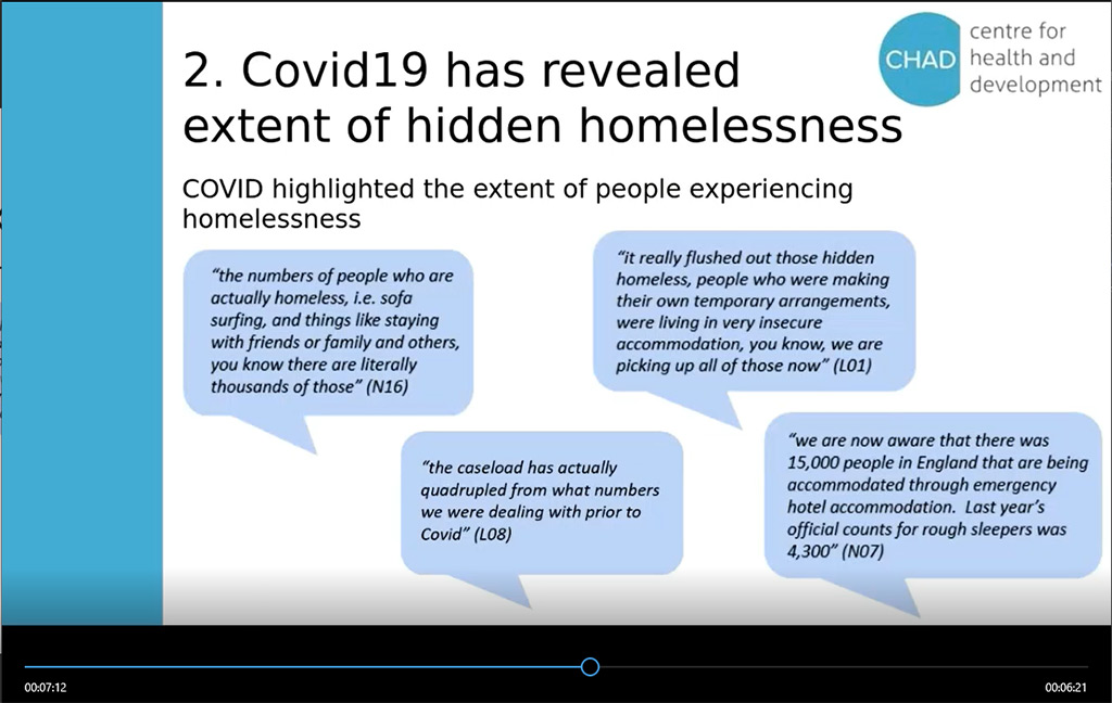 COVID-19 and Homelessness: national policy at the local level